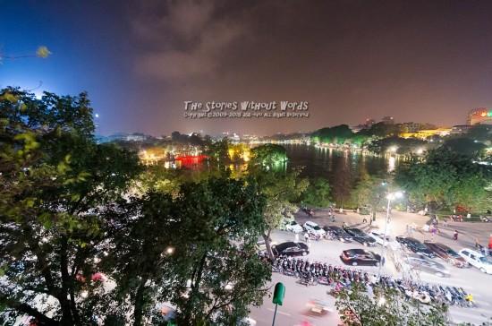 『夜のHồ Hoàn Kiếm』 K-5IIs SIGMA 8-16mmF4.5-5.6 [8mm F4.5 1/6 ISO3200]