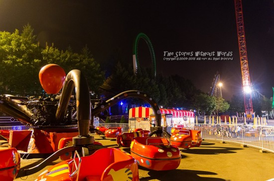 『夜の遊園地』 K-5IIs DA*16-50mmF2.8 [16mm F2.8 1/8 ISO3200]